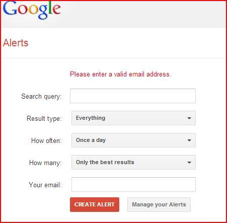 image 1 google alert sign up